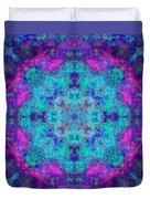 Blue Opal Rainbow Mandala Duvet Cover