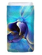 Blue Orchid Macro Duvet Cover