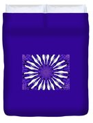 Blue Orchid Sunburst Kaleidoscope Duvet Cover