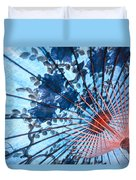 Blue Ornamental Thai Umbrella Duvet Cover