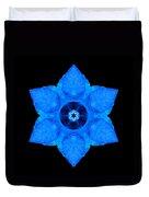 Blue Pansy II Flower Mandala Duvet Cover by David J Bookbinder