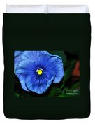 Blue Pansy Duvet Cover