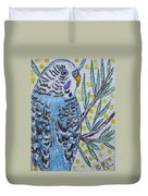 Blue Parakeet Duvet Cover