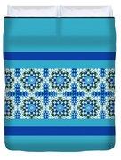 Blue Patchwork 2 Duvet Cover