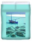 Blue Peace. Maldives Duvet Cover