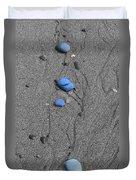 Blue Pebbles Duvet Cover