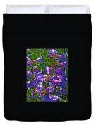 Blue Penstemon On Bald Mountain In Ketchum-idaho Duvet Cover