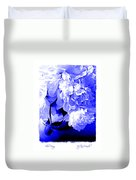 Blue Peony Duvet Cover