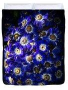 Blue Poem Duvet Cover
