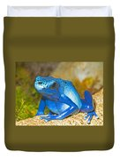 Blue Poison Dart Frog Duvet Cover