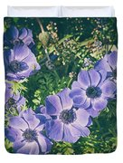Blue Poppies Blooms Duvet Cover