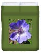 Blue Poppy Anemone Duvet Cover