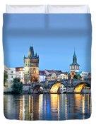 Blue Prague Duvet Cover