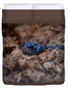 Blue Racer Snake Duvet Cover