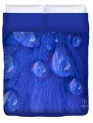 Blue Rain Duvet Cover