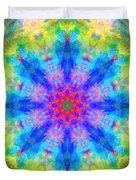 Blue Rainbow Star Mandala Duvet Cover