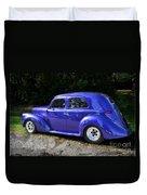 Blue Restored Willy Car Duvet Cover