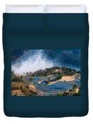 Blue Rice Terrace Duvet Cover