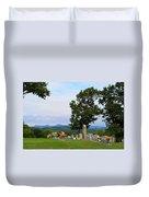 Blue Ridge Mountain Cemetery Duvet Cover
