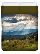 Blue Ridge Parkway North Carolina Mountains Gods Country Duvet Cover