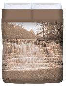 Blue Ridge Parkway Rainy Day Duvet Cover