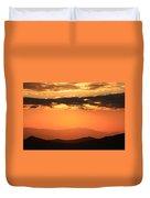 Blue Ridge Parkway Sunset-north Carolina Duvet Cover