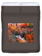 Blue Ridge Parkway Waterfall In Autumn Duvet Cover