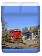 Blue Ridge Scenic Railway Duvet Cover