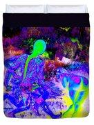 Blue Rock 'n' Roll Duvet Cover