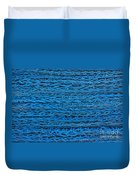 Blue Rope Stack Duvet Cover