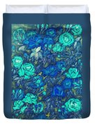 Blue Roses Duvet Cover