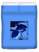 Blue Roses Duvet Cover
