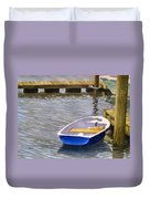 Blue Row Boat Duvet Cover