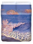 Blue Seascape Wave Effect Duvet Cover