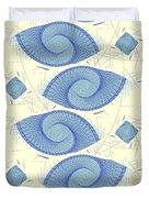 Blue Shells Duvet Cover