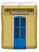 Blue Shutter Door - New Orleans Duvet Cover