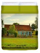 Blue Shuttered Cottage Duvet Cover