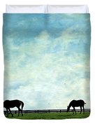 Blue Skies And Blue Grass Duvet Cover