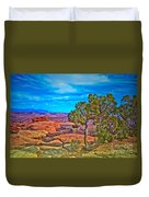Blue Skies And Canyons Duvet Cover