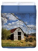Blue Skies Red Roof Duvet Cover