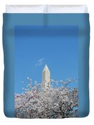Blue Skies With Washington Monument Duvet Cover