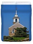 Blue Sky Chapel Duvet Cover