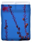 Blue Sky Flowers At Night Duvet Cover