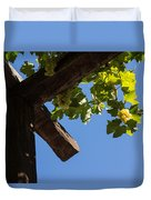 Blue Sky Grape Harvest - Thinking Of Fine Wine Duvet Cover