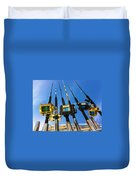 Blue Sky Rods Duvet Cover