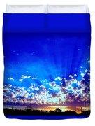 Blue Sky Shine Duvet Cover