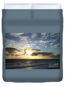 Blue Sky Sunrise Duvet Cover
