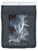 Blue Snow Duvet Cover