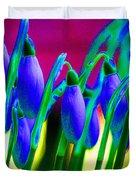 Blue Snowdrops Duvet Cover