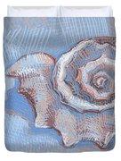 Blue Spiral Duvet Cover